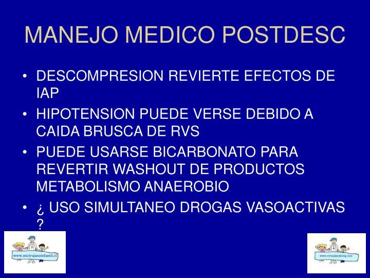MANEJO MEDICO POSTDESC