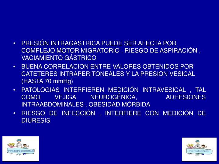 PRESIÓN INTRAGASTRICA PUEDE SER AFECTA POR COMPLEJO MOTOR MIGRATORIO , RIESGO DE ASPIRACIÓN , VACIAMIENTO GÁSTRICO