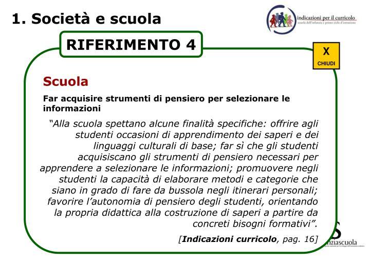 1. Società e scuola