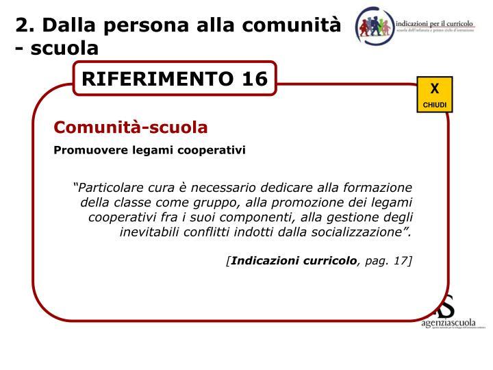 2. Dalla persona alla comunità - scuola