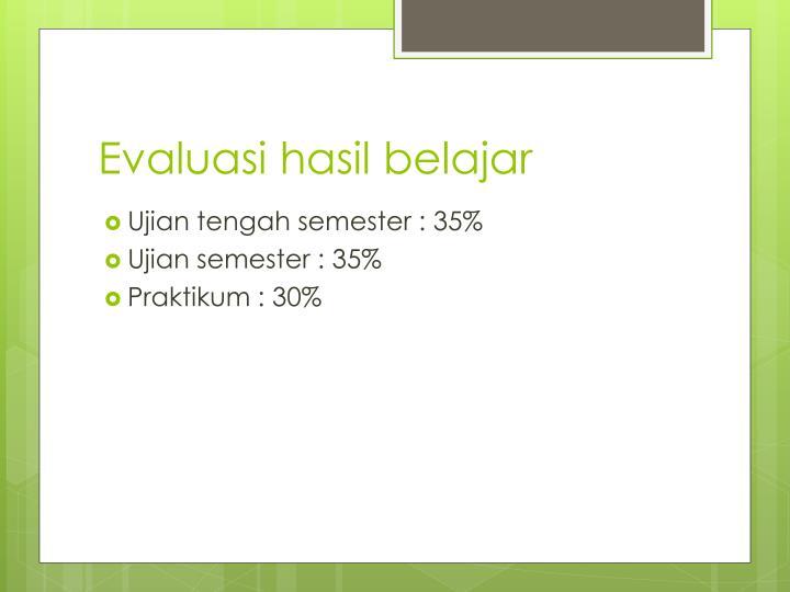 Evaluasi hasil belajar