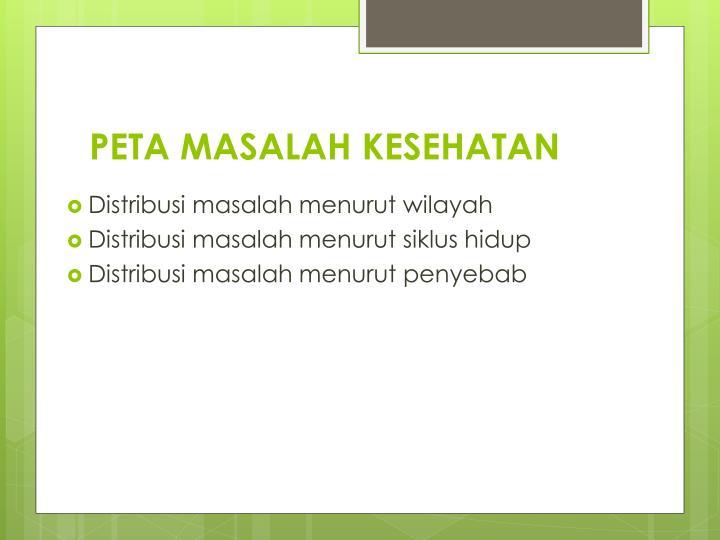 PETA MASALAH KESEHATAN