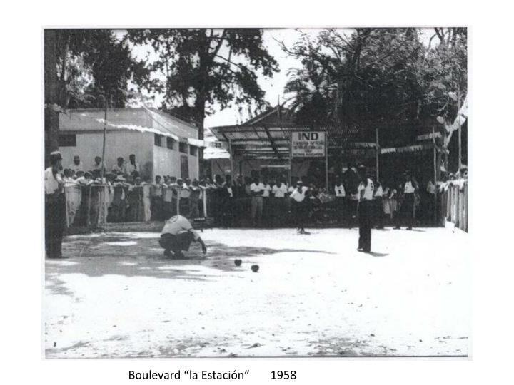 """Boulevard """"la Estación""""       1958"""