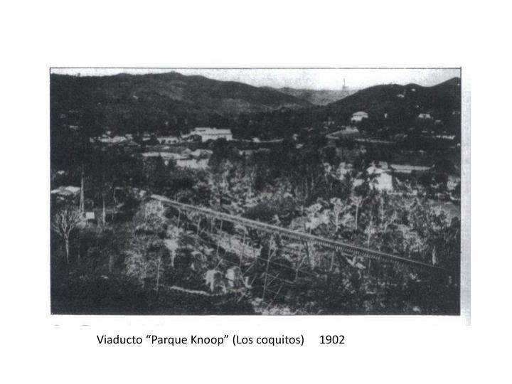 """Viaducto """"Parque Knoop"""" (Los coquitos)     1902"""