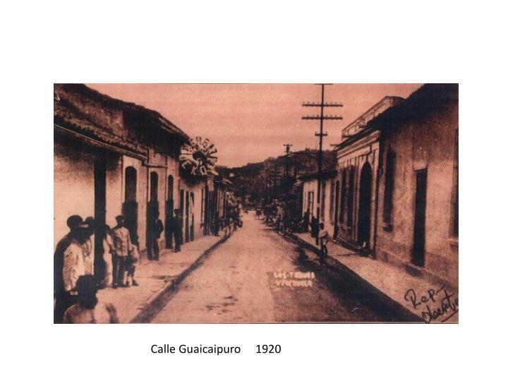 Calle Guaicaipuro     1920