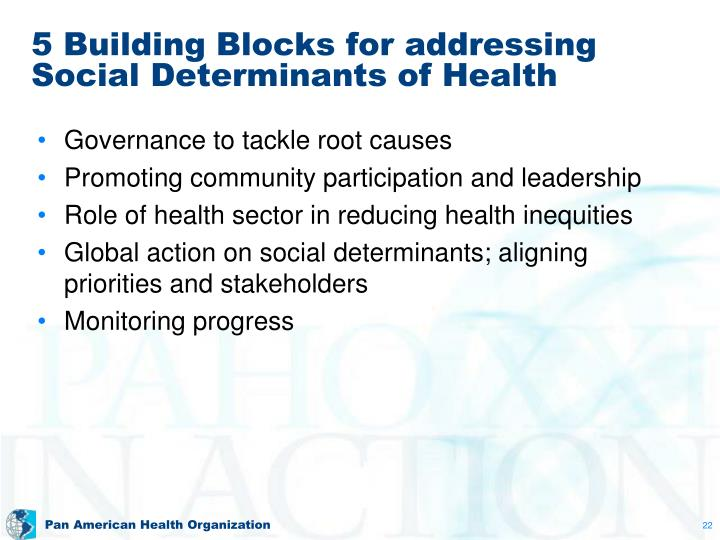 5 Building Blocks for addressing Social Determinants of Health