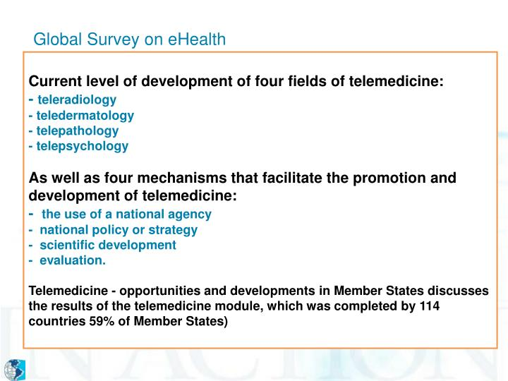 Global Survey on eHealth