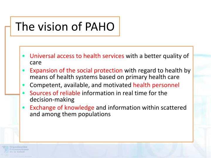 Universal access to health services