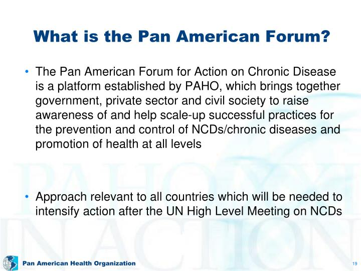 What is the Pan American Forum?