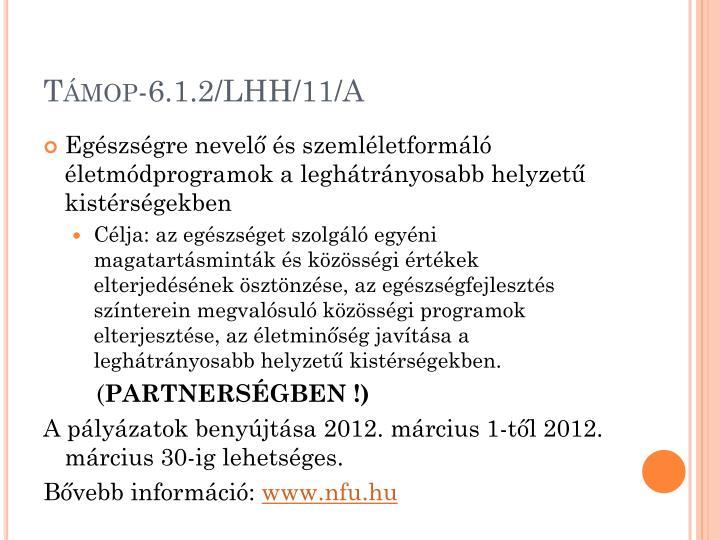 Támop-6.1.2/LHH/11/A