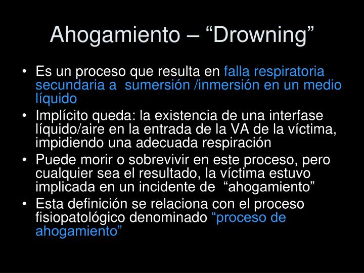 "Ahogamiento – ""Drowning"""