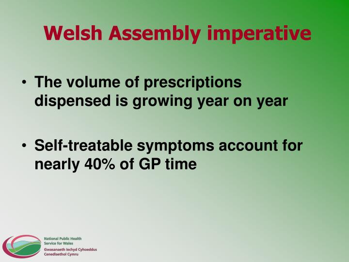 Welsh Assembly imperative