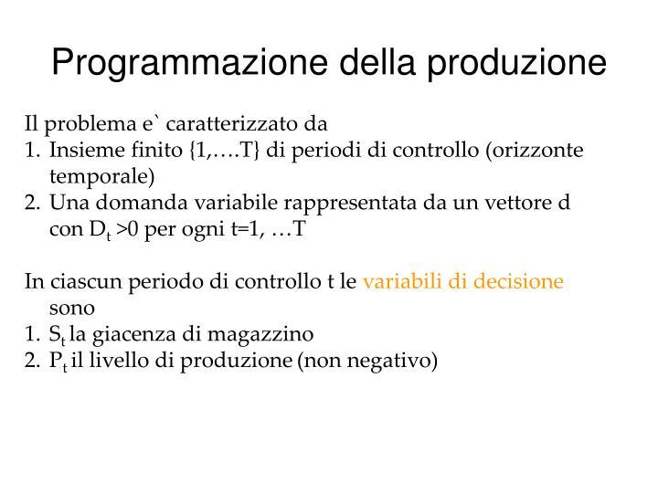Programmazione della produzione