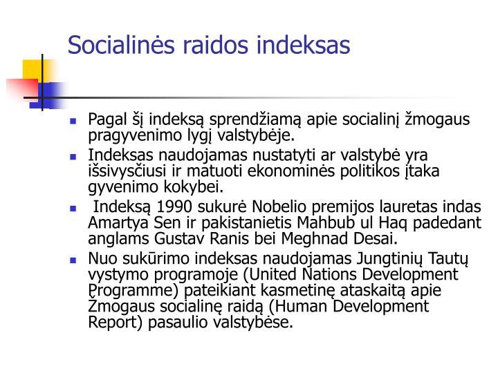 Socialinės raidos indeksas