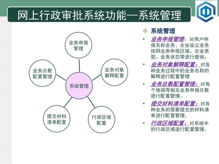 网上行政审批系统功能