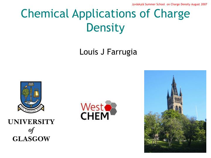 Chemical applications of charge density