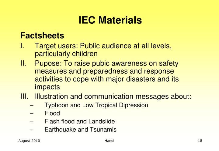 IEC Materials