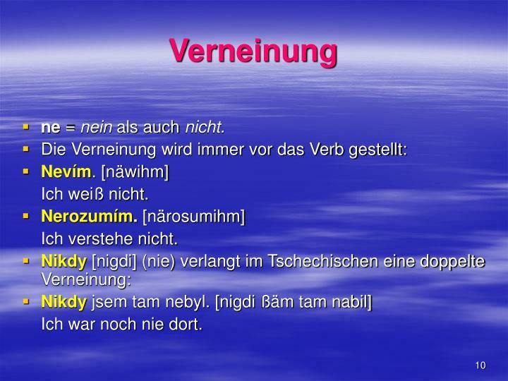Verneinung