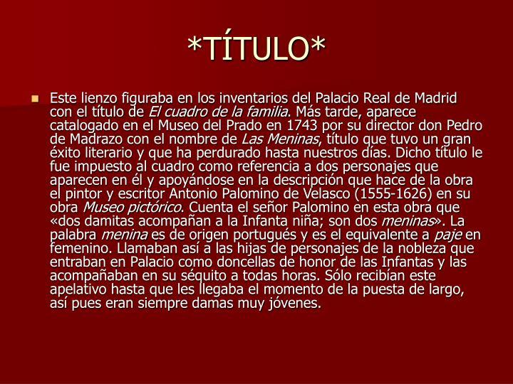 *TTULO*