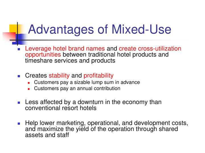 Advantages of Mixed-Use