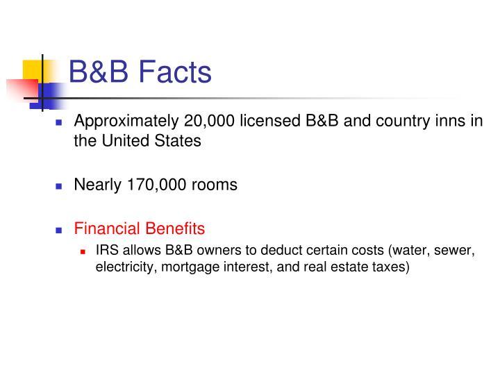 B&B Facts