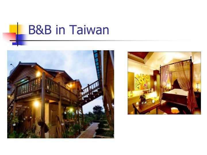 B&B in Taiwan