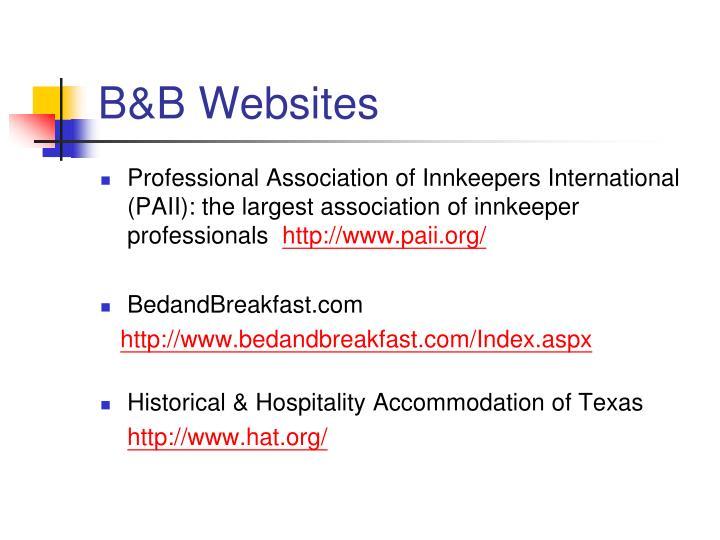 B&B Websites