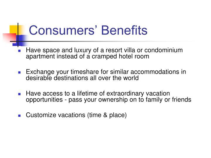 Consumers' Benefits