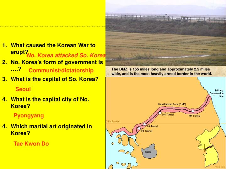 What caused the Korean War to erupt?