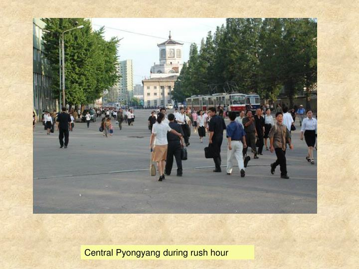 Central Pyongyang during rush hour