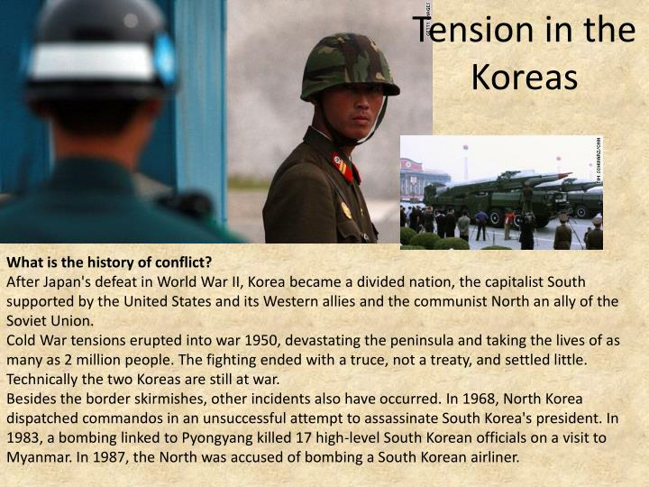 Tension in the Koreas