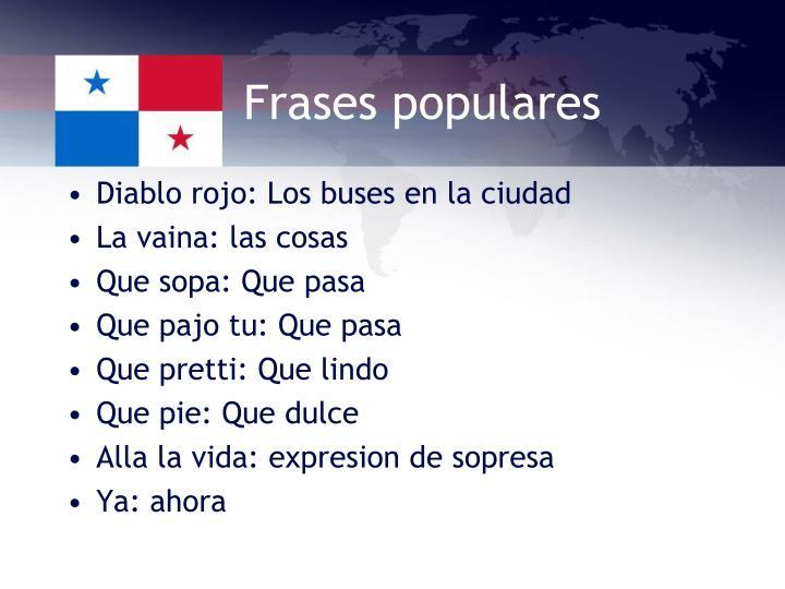 Frases populares