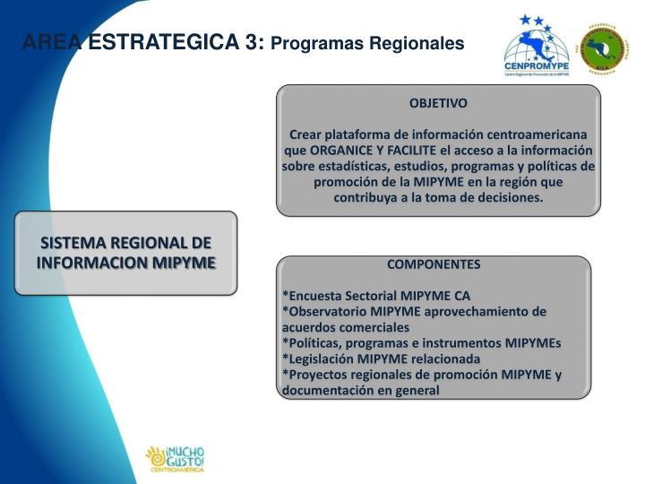 AREA ESTRATEGICA 3: