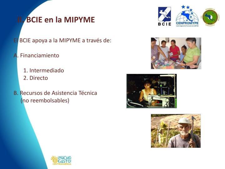 II. BCIE en la MIPYME