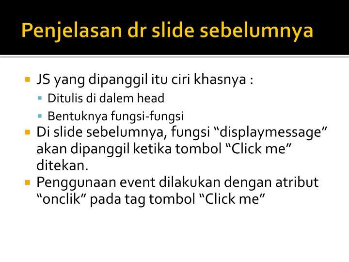 Penjelasan dr slide sebelumnya