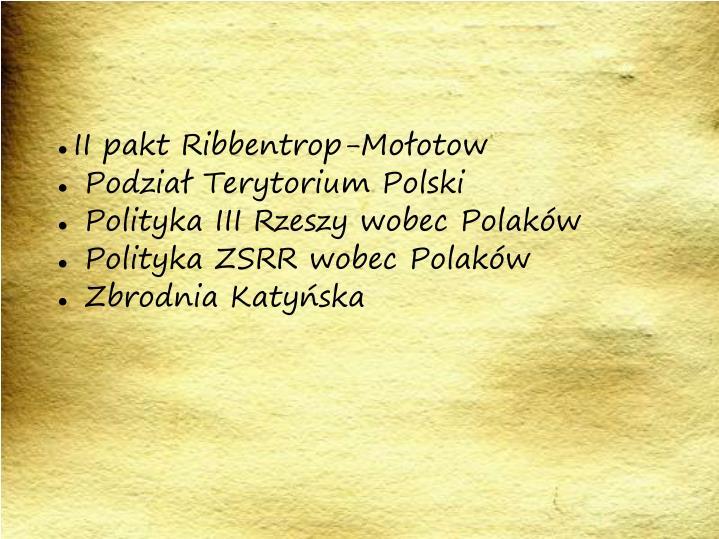 II pakt Ribbentrop-Mołotow