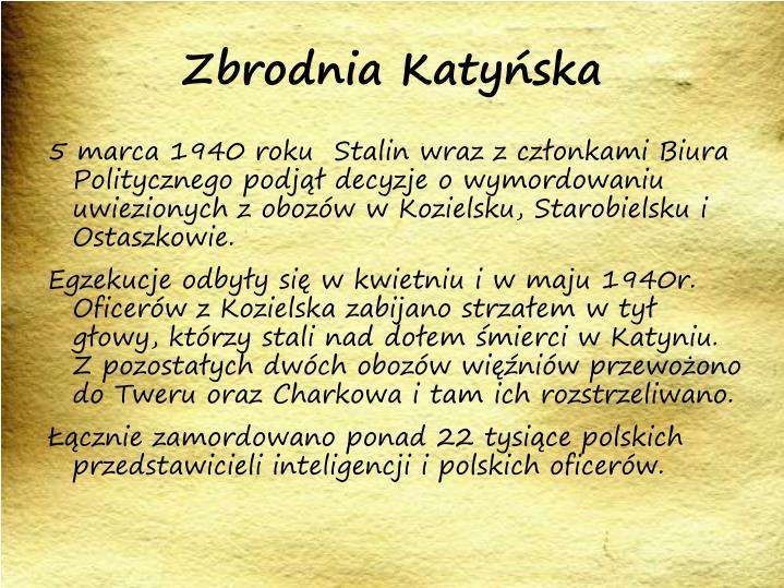 Zbrodnia Katyńska
