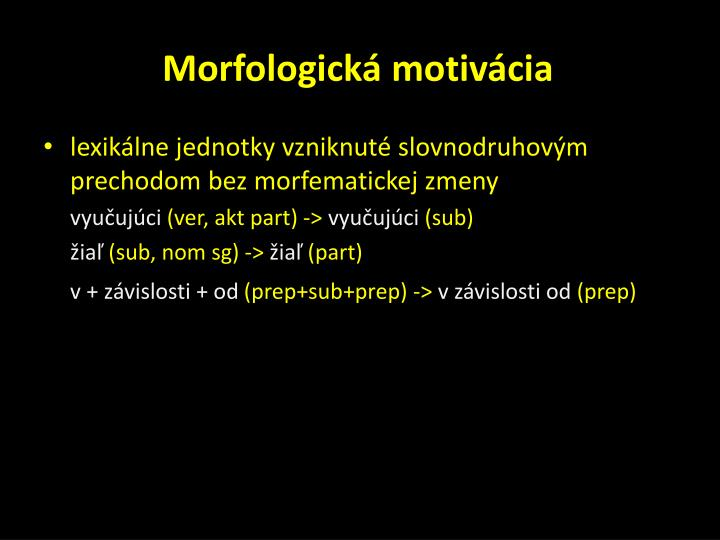 Morfologická motivácia