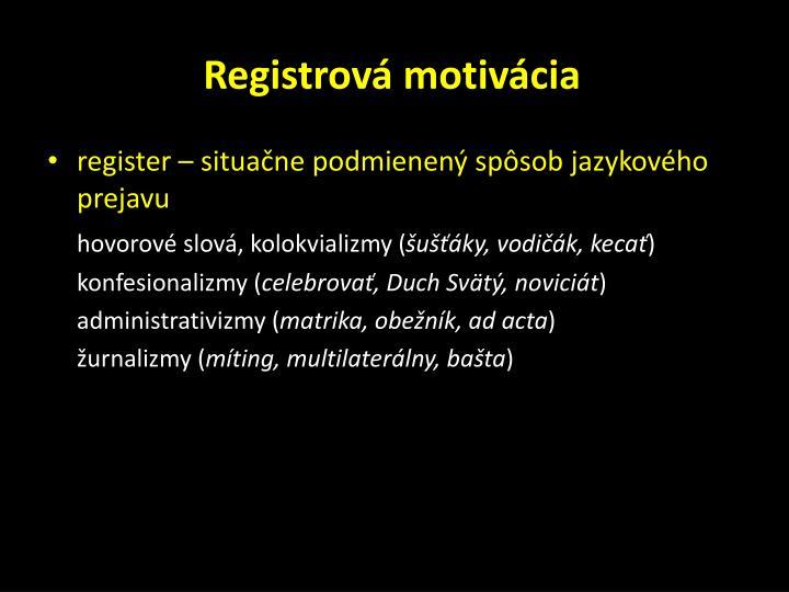 Registrová motivácia