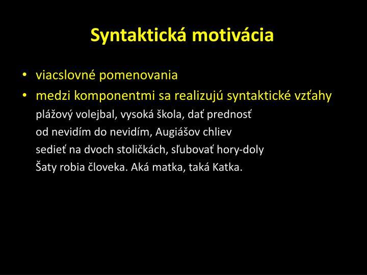 Syntaktická motivácia
