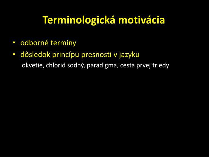 Terminologická motivácia