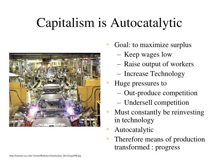 Capitalism is Autocatalytic