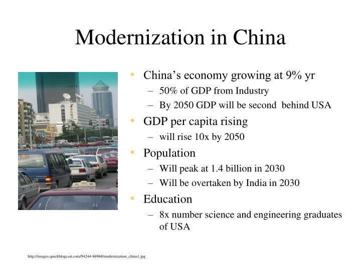 Modernization in China