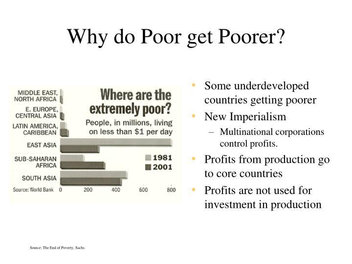 Why do Poor get Poorer?