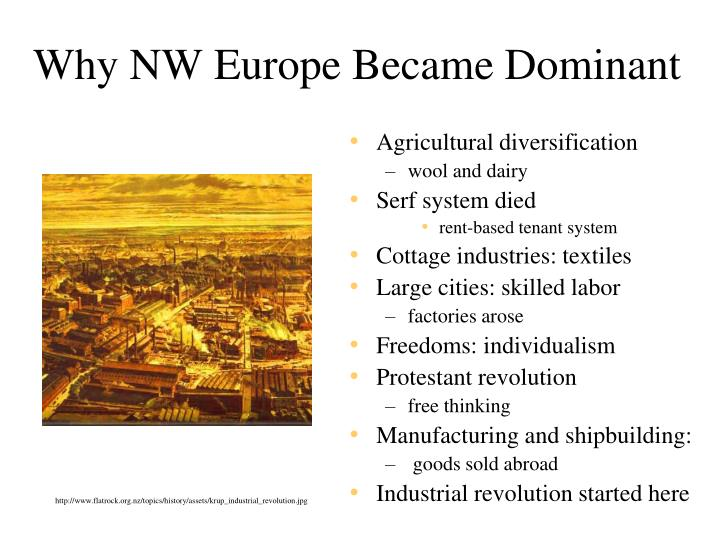 Why NW Europe Became Dominant
