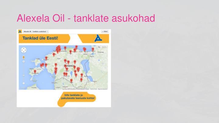 Alexela Oil - tanklate asukohad