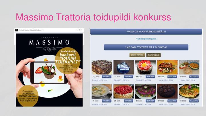 Massimo Trattoria toidupildi konkurss
