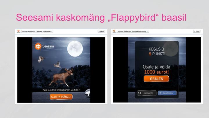 "Seesami kaskomäng ""Flappybird"" baasil"