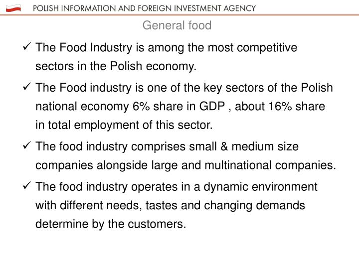 The Food Industry is among the most competitive sectors in the