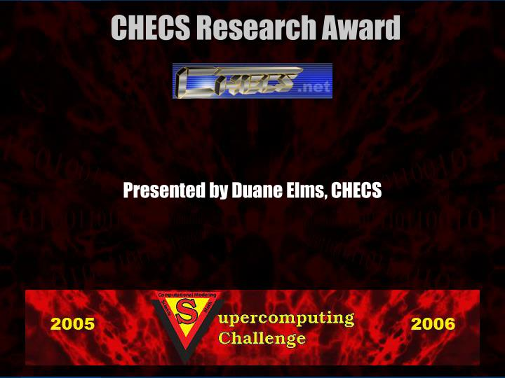 Presented by Duane Elms, CHECS